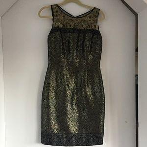 Metallic gold Carmen Marc Valvo dress